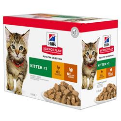 Science Plan Kattefoder Kitten POULTRY SELECTION 12 x 100 gram