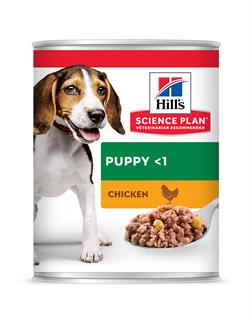 Science Plan™ Puppy Medium Savoury Chicken Dåse á 370 gram