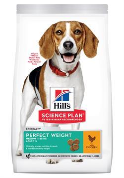 Science Plan Hundefoder Canine Adult Perfect Weight Medium 12 kg SPAR 100,00kr