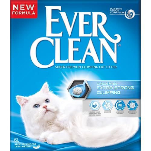 Ever Clean Extra Strenght Unscented 10 L. Kattegrus.