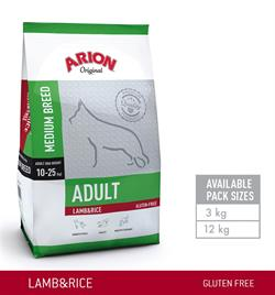 Arion Adult Medium Breed – Lam & Ris Gluten fri 12 kg .