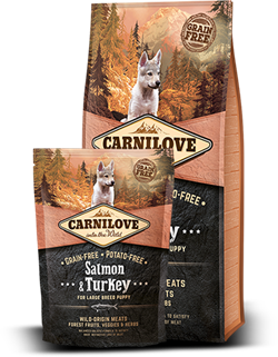 SALMON & TURKEY FOR LARGE BREED PUPPIES  KORNFRI
