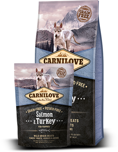 Carnilove SALMON & TURKEY FOR PUPPIES KORNFRI