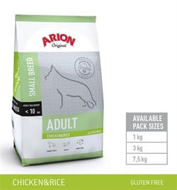 Arion Adult Small Breed – Kylling & Ris Gluten fri . 7.5 kg.