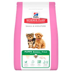 Hill`s Science Plan Small & Miniature Puppy hundefoder. 1,5 kg