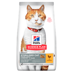 Science Plan Kattefoder Feline Young Adult Sterilised Cat Chicken 7 kg TILBUD SPAR 100,00kr.